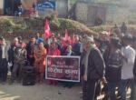 असंवैधानिक संसद विघठन विरुद्ध कांग्रेस रामारोशनद्वारा बिरोध प्रदर्शन